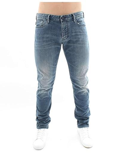 5d60b041 EMPORIO ARMANI Men Jeans Denim blu