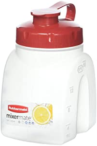 Rubbermaid 849-3101-3238 FBA_FG3093RDCHILI MixerMate Servin' Saver, 1 Pint Bottle, 1-Pack, White