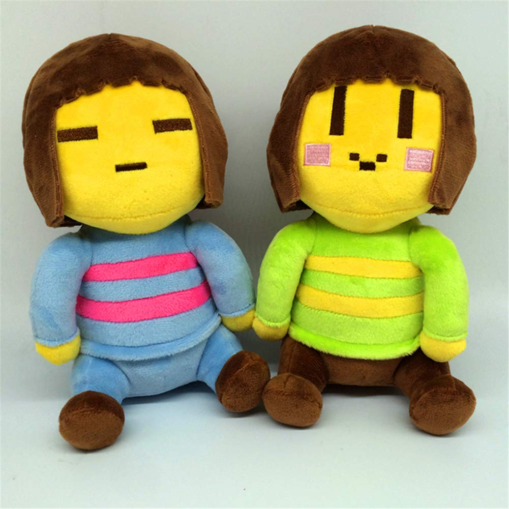 """8/"""" Undertale Frisk and Chara Plush Doll Soft Stuffed Game Toys Kids Xmas Gift"""