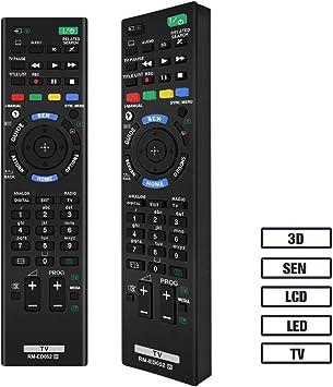 Grock RM-ED052 Mando a Distancia Compatible de Repuesto para Sony Smart TV /HDTV/3d/LCD/LED, aplicable RM-ED053 RM-ED060, kdl-40 W905 a KDL-46 W905 A KDL-55 W905 A KDL-65 W855 A: Amazon.es: Electrónica