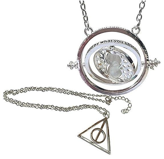 137 opinioni per Set Di Due Collane Harry Potter- Clessidra girevole Hermione Giratempo e Death