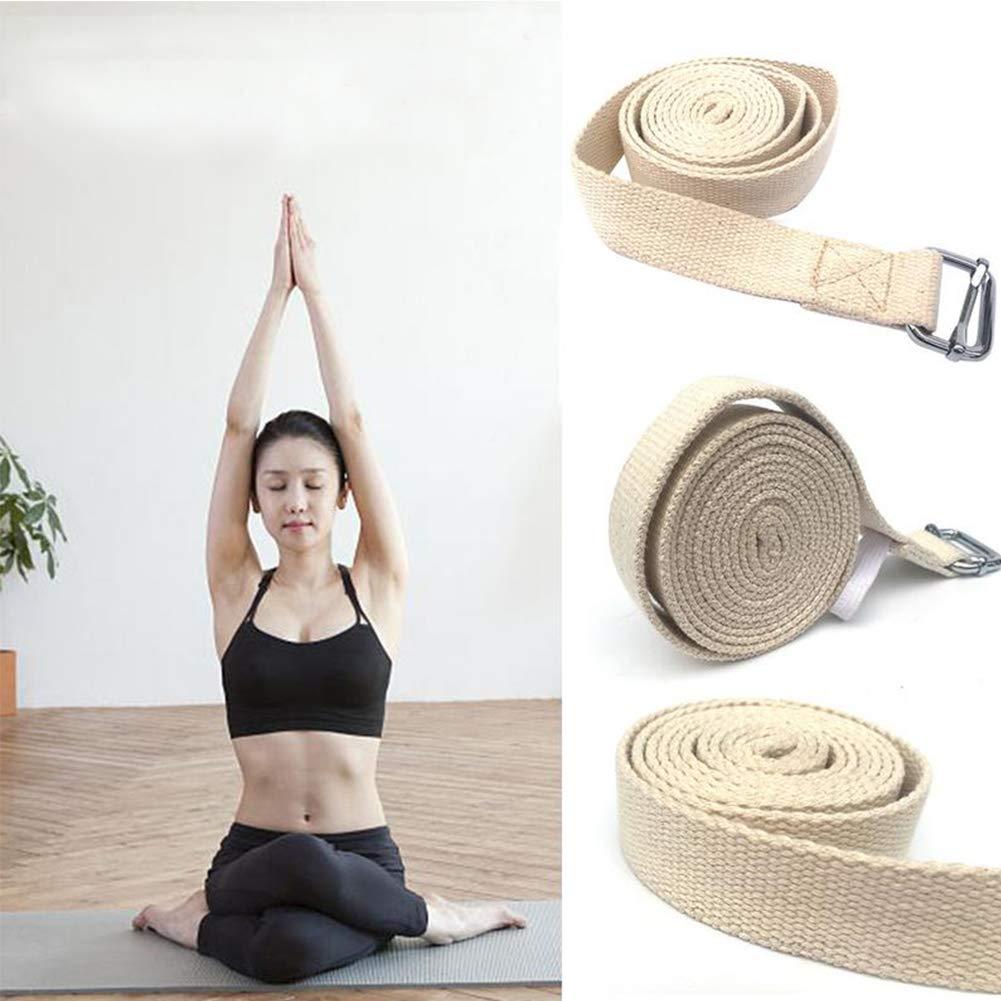Amazon.com: Cinturón de yoga, correa elástica extra larga ...