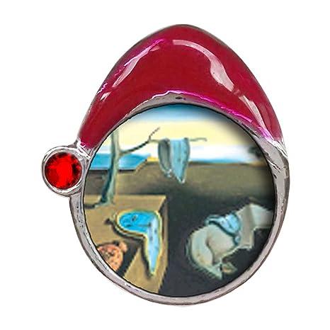 Dali – Persistenza della memoria rosso Siam cristallo pietra di Gennaio  rosso cappello da Babbo Natale e65188eb531d