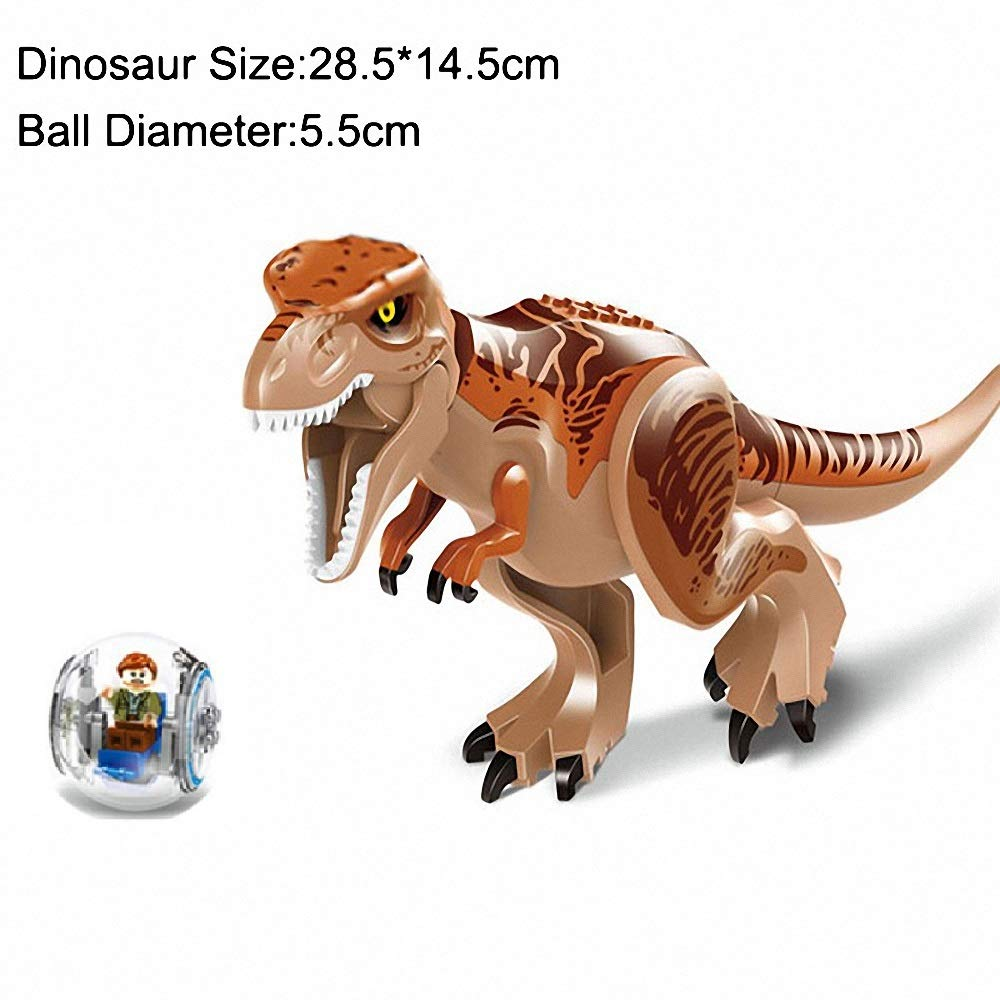 Jouet de Construction Absolument /écologique S/ûr et fiable AMeu01 Grand Dinosaure avec Ball Car et Minifigure Dinosaur Tyrannosaurus Rex T-Rex du Monde Jurassique Hauteur 29cm