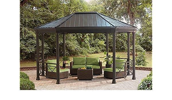 Sunjoy 110102081 - Cenador de cocina alargado, 30 x 38 cm, color negro: Amazon.es: Jardín