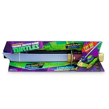 Tortugas Ninja - Espada electrónica de Leo (Giochi Preziosi 92061)
