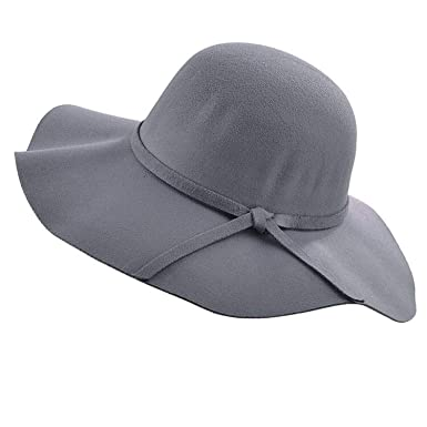 8cd87e5d Image Unavailable. Image not available for. Color: Simple Vintage Retro  Kids Child Girl Hats Fedora Wool Felt Crushable Wide ...