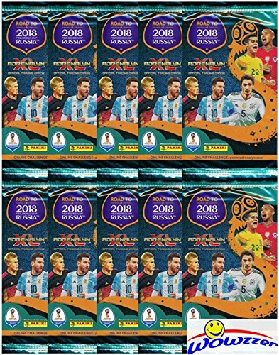 Card Russia (2018 Panini Adrenalyn XL Road to FIFA World Cup Russia Collection with 10 Factory Sealed Booster Packs with 60 Cards! Look for Superstars Including Ronaldo, Lionel Messi, Neymar Jr & More! WOWZZER!)