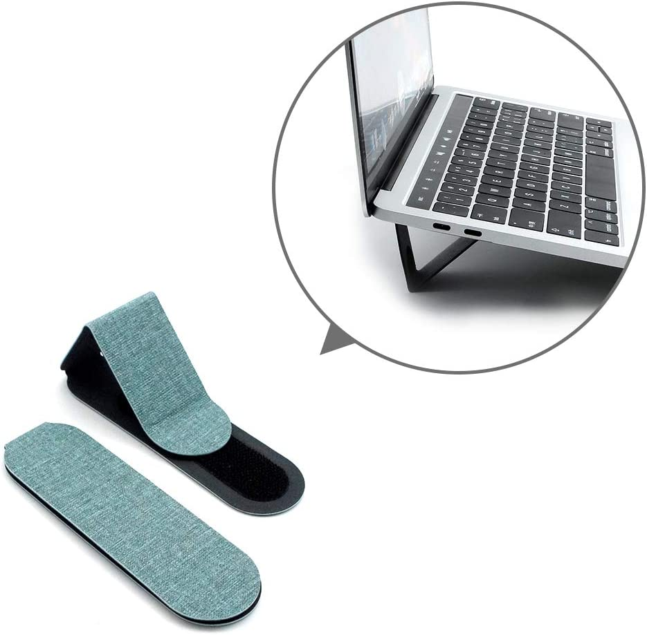 """SenseAGE Mini Portable Laptop Stand, Lightweight Laptop Stand, First On-The-go Notebook Stand, Compatible with MacBook/MacBook Air/MacBook Pro, Tablets and Laptops up to 15"""", Green (1 Set, 2 Pack)"""