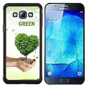 LECELL--Funda protectora / Cubierta / Piel For Samsung Galaxy A8 A8000 -- Corazón del amor de la naturaleza del árbol --
