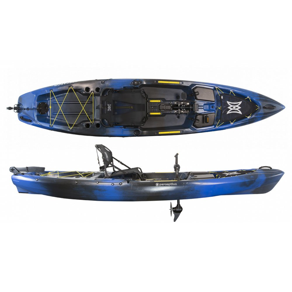 2017 Perception Pescador Pilot 12.0 Pedal Fishing Kayak (Sonic Camo) by Perception