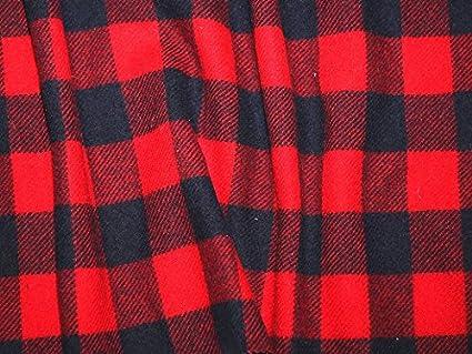 Inglés de cuadros escoceses lana perchero peso tela de ...