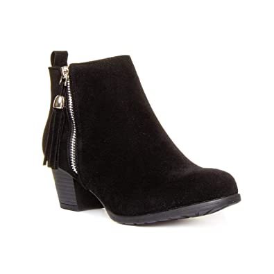 4207c4218db9f Lilley Womens Black Faux Suede Heeled Ankle Boot - Size 3 UK - Black