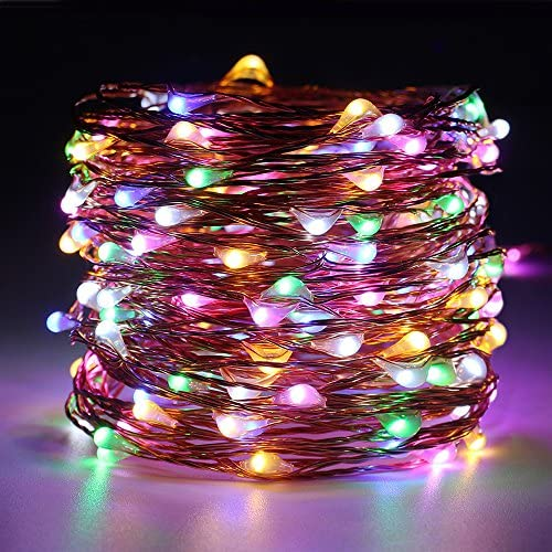 ER CHEN Dimmable LED String Lights Plug in, 99ft 300 LED Waterproof Multicolor Fairy Lights with Remote, Indoor Outdoor Copper Wire Decorative Lights for Bedroom, Patio, Garden, Yard, Party