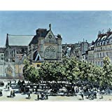 'Claude Monet St. Germain l'Auxerrois a Paris ' oil painting, 8 x 10 inch / 20 x 25 cm ,printed on Perfect effect canvas ,this Replica Art DecorativeCanvas Prints is perfectly suitalbe for Bathroom artwork and Home decor and Gifts