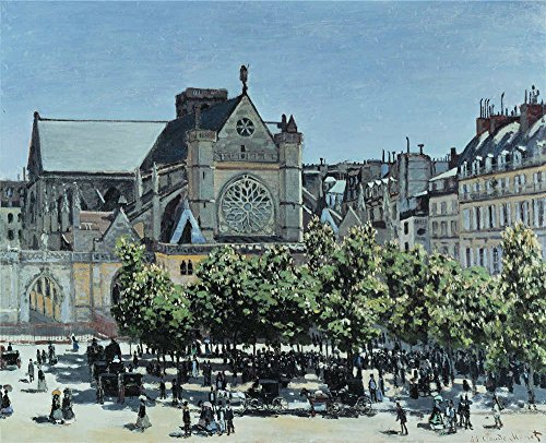 Oil Painting 'Claude Monet - St. Germain L' Auxerrois A Paris,1867', 12 x 15 inch / 30 x 38 cm, on High Definition HD canvas prints is for Gifts And Gym, Home Office And Nursery Decoration