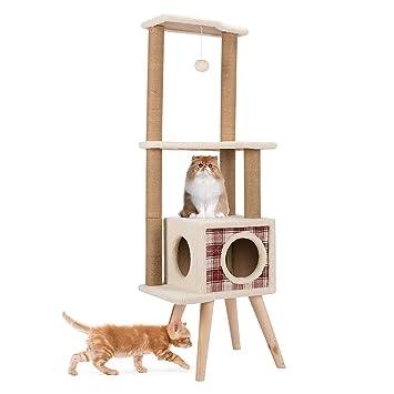 CO-Z Árbol para Gatos Torre de Algodón Escalera Rascador ...