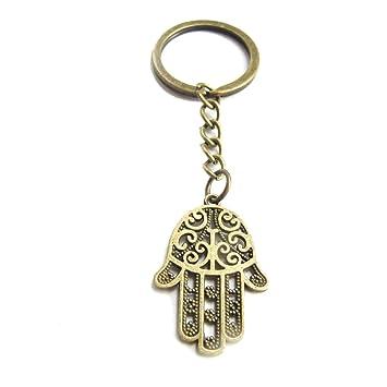 Key chain Hamsa Charm Hamsa - Llavero de Mano de Fátima con ...