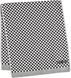 KUSUBASHI MON-ORI DOUBLE STAR oriori [Imabari Towel] Satin Face Towel, Black (1-60194-31-BK)