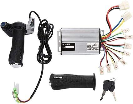 36V//48V Twist Speed Throttle Half-Bar Grip Throttle With Electric Lock For Ebike