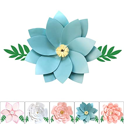 One Phoenix Cardstock Crafts Handmade Paper Flowers For Baby Room Wall Decor Diy Birthday Party Decoration Unicorn Theme Ornament 16 Inch X 1