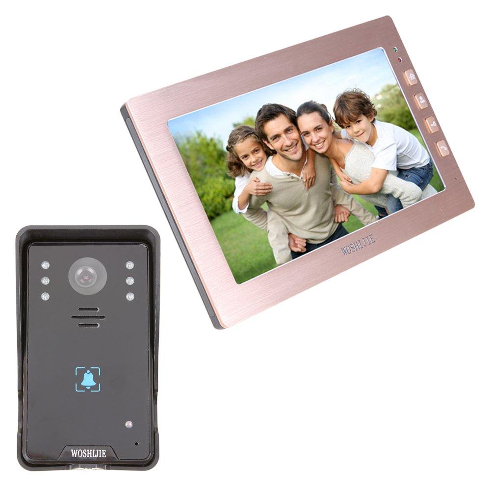 Peephole Viewer Door Viewer Awakingdemi Infrared Night Vision HD Villa Wired Touch Button 10.1 Inch Video Intercom