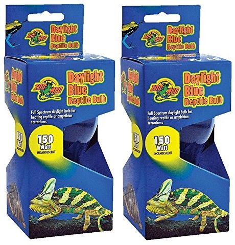 ((2 Pack) Zoo Med Daylight Blue Incandescent Reptile Bulb 150 Watts)