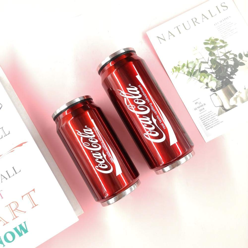 D Childrens Straw Cup Stainless Steel Cans Mug Outdoor Sports Bottle Coke Cans Children Straw Cups Creative Fashion Safety No Smell