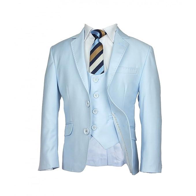 Boys 5 PC Slim Fit White or Sky Blue Communion Suit - Pageboy ...