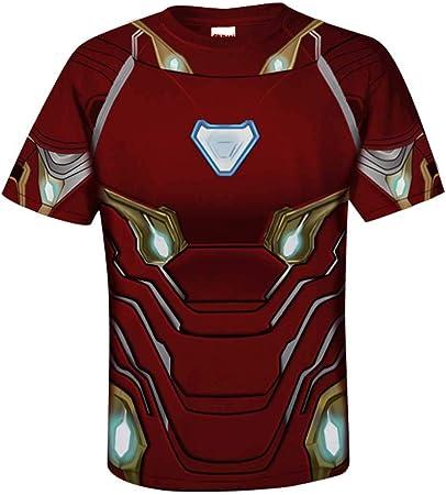Hombre superhéroes Avengers: Endgame Iron Man Manga Corta Impreso ...