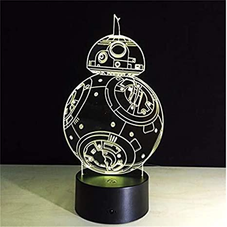 Led Night Light Spotlight 3D Night Lights Star Wars Bb8 ...