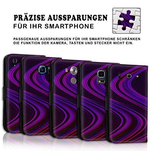 Wallet Book Style Flip Handy Tasche Case Schutz Hülle Schale Motiv Etui für Apple iPhone 6 Plus / 6S Plus - Design Flip MV205