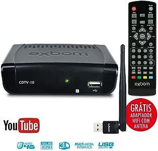 Conversor de TV Digital com YouTube Wi-Fi Internet Função