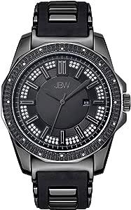 ساعة ستانلس ستيل سوداء بمينا اسود للرجال من جيه بي دبليو - J6332B