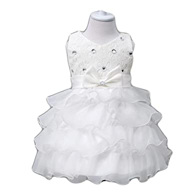 1b4a7d2ae8a6 Freezing 0-24 Months Baby Flower Girl Dress Kids Ruffles Lace Party Wedding  Dresses,