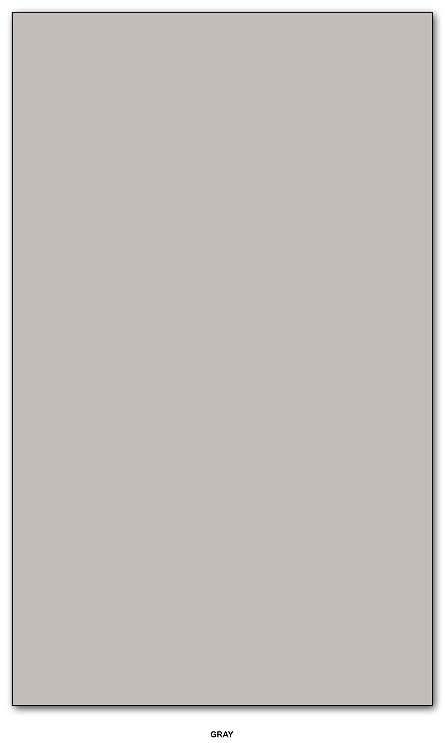 Gray - Pastel Color Paper 20lb. Size 8.5 X 14 Legal/Menu Size - 500 Per Pack