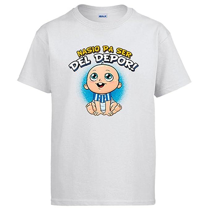 Diver Camisetas Camiseta Nacido para ser del Depor Coruña fútbol: Amazon.es: Ropa y accesorios