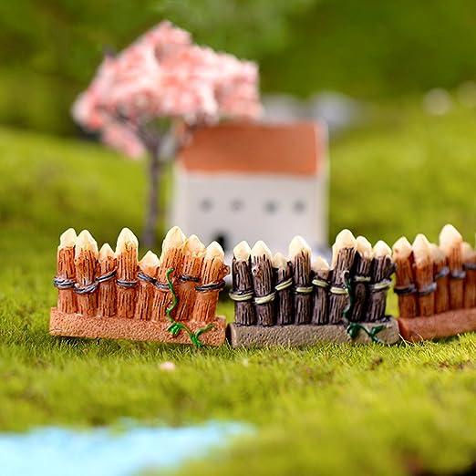YHLVE - 1 Pieza de Mini Valla de Madera para decoración de jardín (Color al Azar): Amazon.es: Hogar