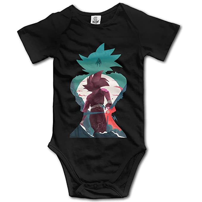 Ogbcom Babys Dragon Ball Z Son Goku Hanging Bodysuit Romper Playsuit Outfits Clothes Climbing Clothes Short Sleeve