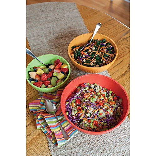 Nordic Ware 60039 Microwave Prep/Serve Bowl Set, 3 Piece, Fiesta Colors