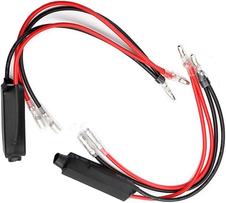 Supmico 2 X 12V Moto Clignotant de signalisation LED R/ésistance Flash clignotant Correction derreur