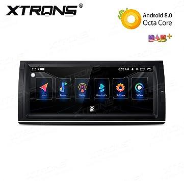 XTRONS Android 8.0 Octa-Core 4+32G Radio estéreo para Coche 10.25 Pulgadas Pantalla táctil GPS Unidad de navegación Completa RCA Bluetooth5.0 Pantalla Dividida DVR SWC OBD2 para BMW X5 E53: Amazon.es: Electrónica