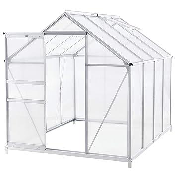 DEUBA® Gewächshaus 4,75m² Treibhaus Tomatenhaus Dachfenster Schiebetür 7,6m³