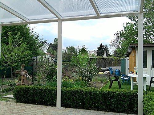Aluminio prikker-überdachungen 500 x 300 cm ajuste de inclinación variable überdachung: Amazon.es: Jardín