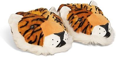 Adult /& Kids Sizes In Stock Orange Tiger Slippers Animal Cat Slippers