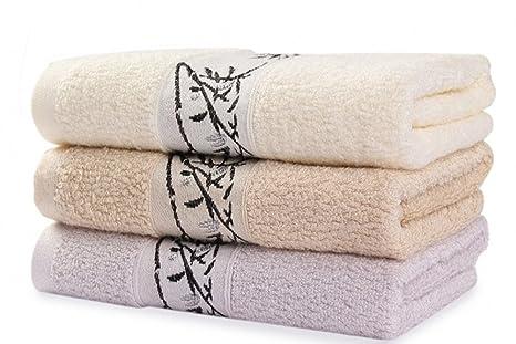 free2mys 3 unidades bordado toallas de bambú de costimetic de 12 pulgadas x 30 pulgadas