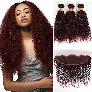Amazon Com 99j Brazilian Virgin Hair Dyed Colored Hair Weave 8a