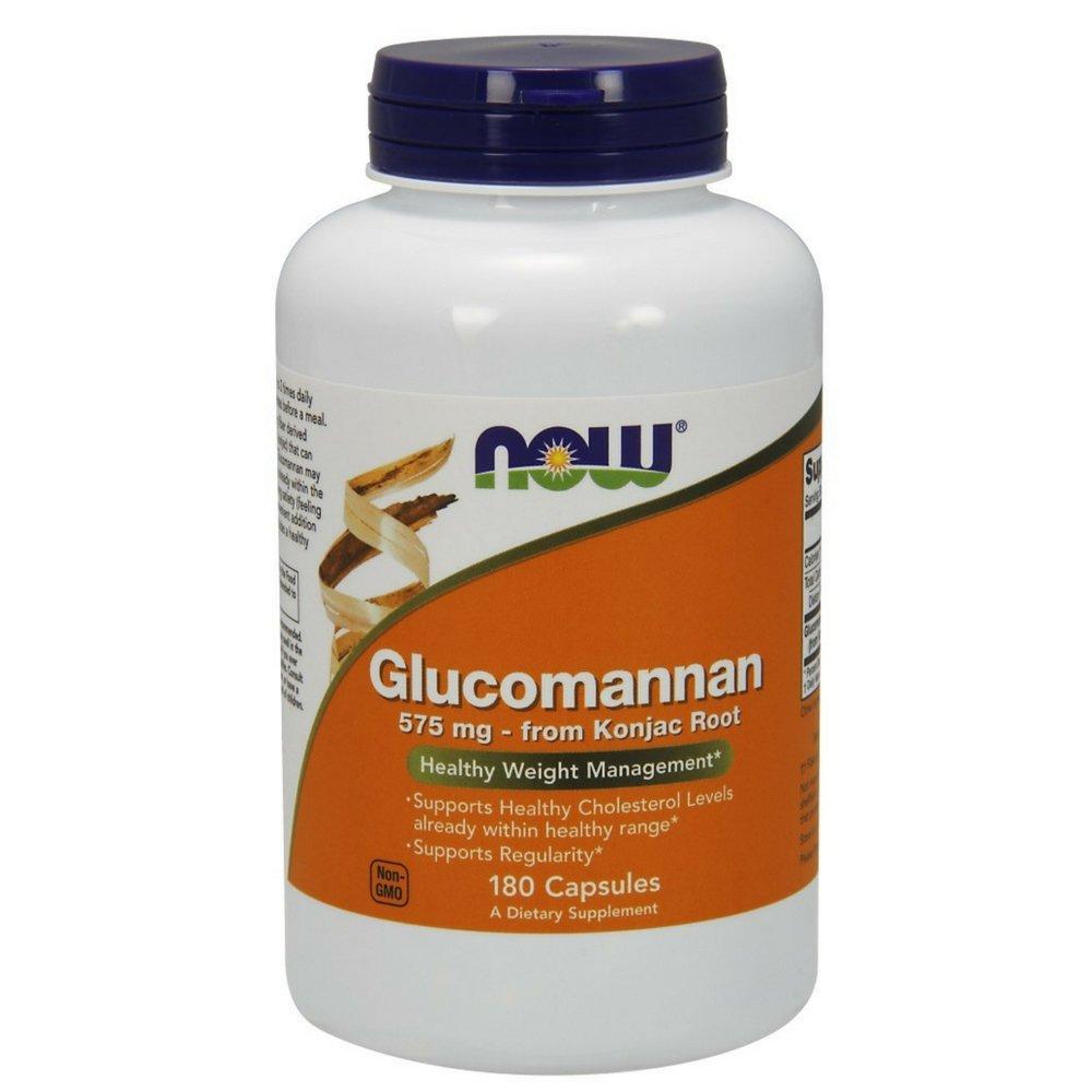 NOW Glucomannan 575 mg,180 Capsules
