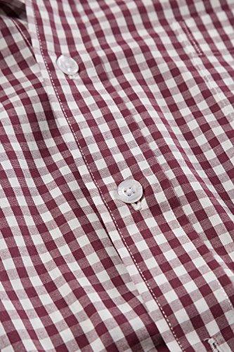 JP 1880 Homme Grandes tailles Chemise à carreaux aubergine L 705589 83-L