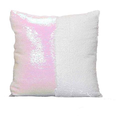 Cojines de almohada, RETUROM Nuevo DIY Dos tonos Glitter ...